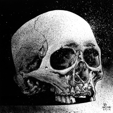 7'x7'_Skull_Study_Ink