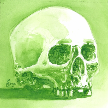 7'x7'_Skull_Study_Watercolo
